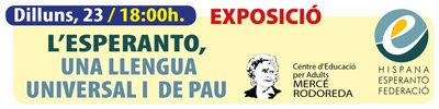 Exposición: ESPERANTO, una lengua Universal y de Paz