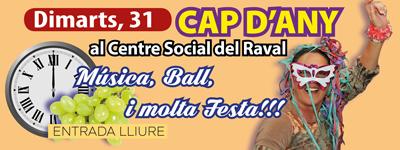 Cap d'Any al Raval – 31 de Desembre – 23.30h